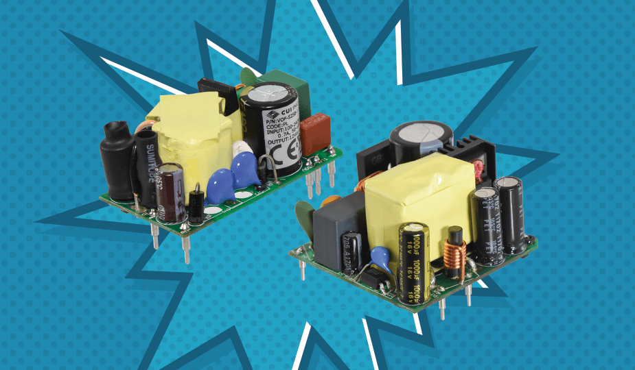 Chassis and Board Mount Line Expansion from CUI Features Power Boost for Motorized Applications