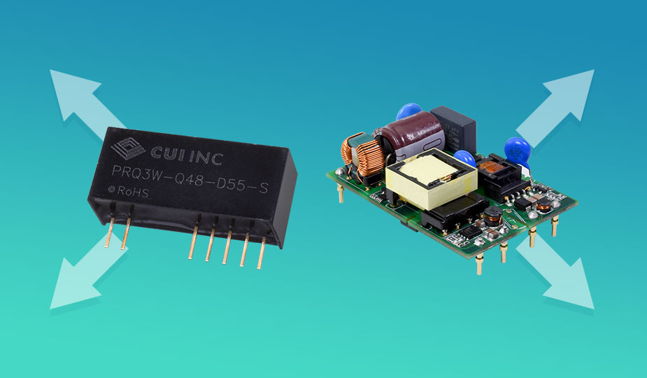 Asymmetrical Output, Isolated Dc-Dc Converters Added to CUI Line