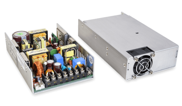 CUI's New Line of 400 W Ac-Dc Power Supplies Comes in Four Compact Chassis Mount Case Styles