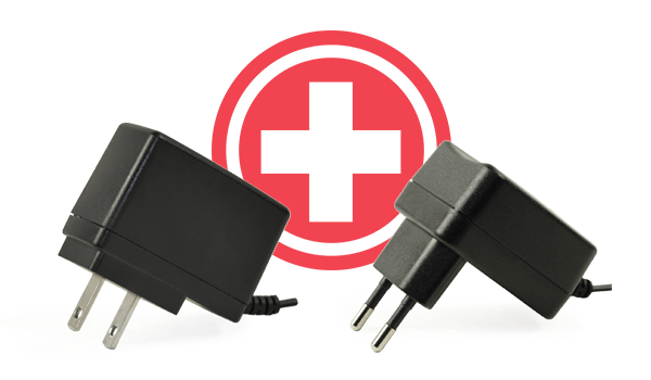 New Medical Wall Plug Power Adapters Comply with IEC 60601-1 4th Edition Standards